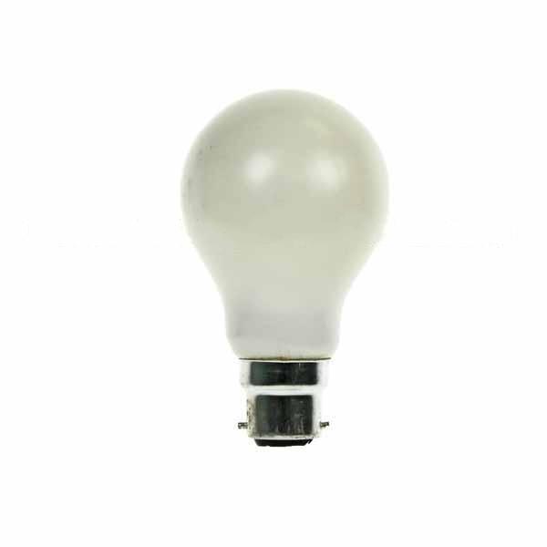 GLS Light Bulb 240V 60W B22D Pearl Rough Serv