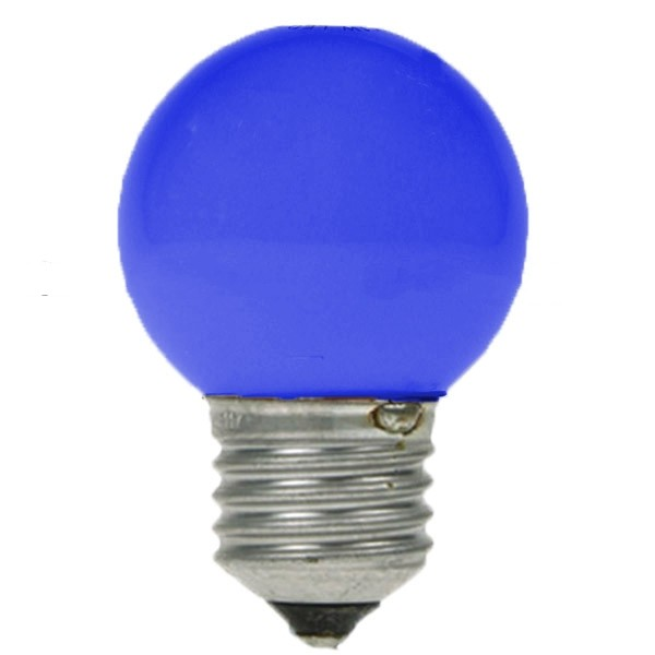 Led Golf Ball Bulb 240v 1w Es E27 Blue Led Golf Ball Coloured