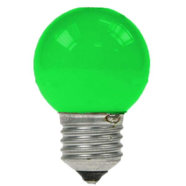 LED GOLF BALL BULB 240V 1W ES E27 GREEN