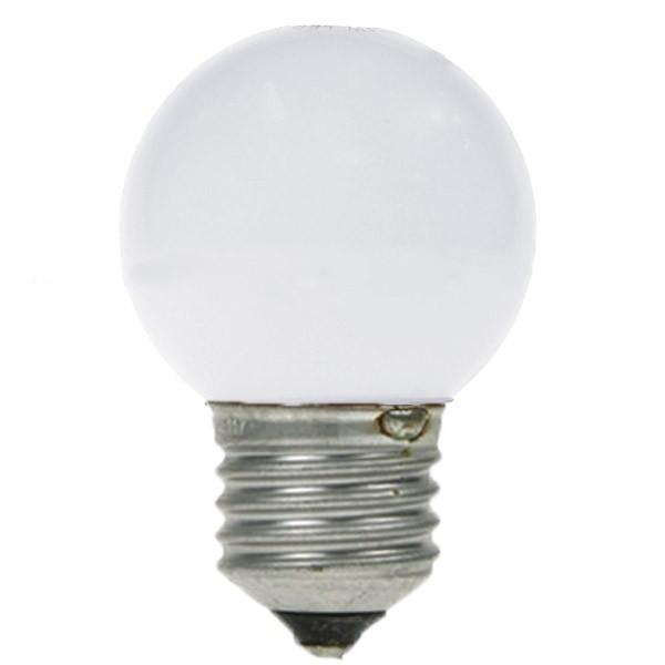 LED GOLF BALL BULB 240V 1W ES E27 WHITE