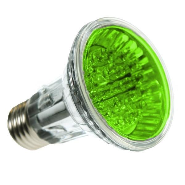 PAR20 LED SPOTLIGHT BULB E27 GREEN 24 LED
