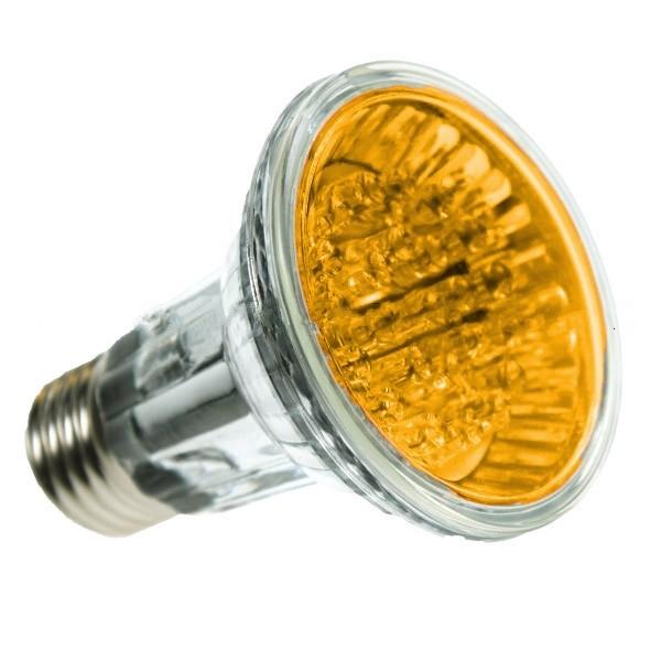PAR20 LED SPOTLIGHT BULB E27 YELLOW 24 LED