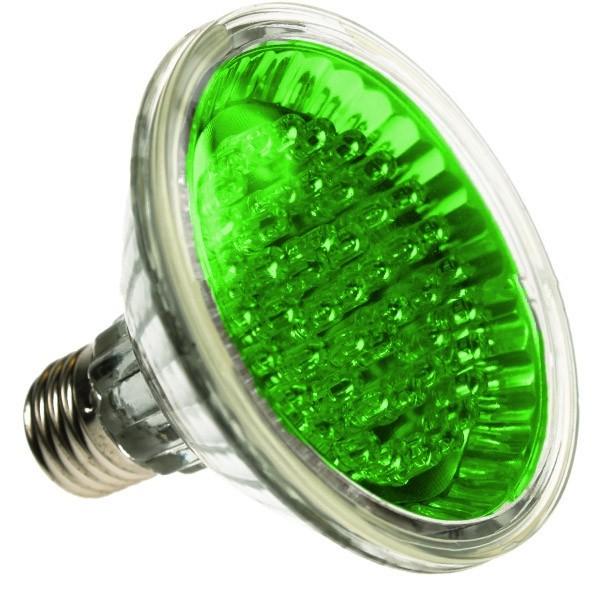 PAR30 LED SPOTLIGHT BULB E27 GREEN 24 LED
