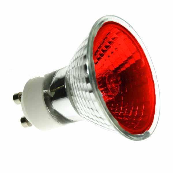 Halogen Spotlight 240V 35W PAR16 GU10 Red