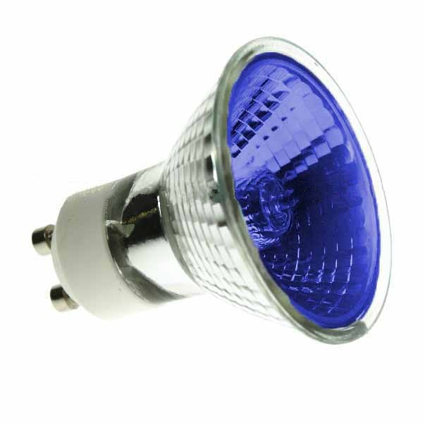 Halogen Spotlight 240V 50W PAR16 GU10 Blue