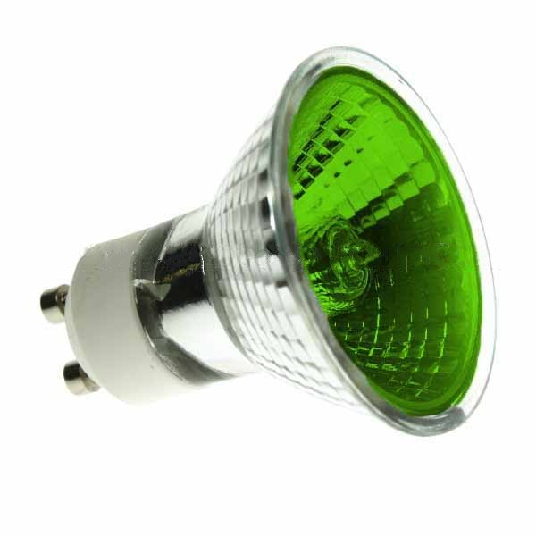 Halogen Spotlight 240V 50W PAR16 GU10 Green