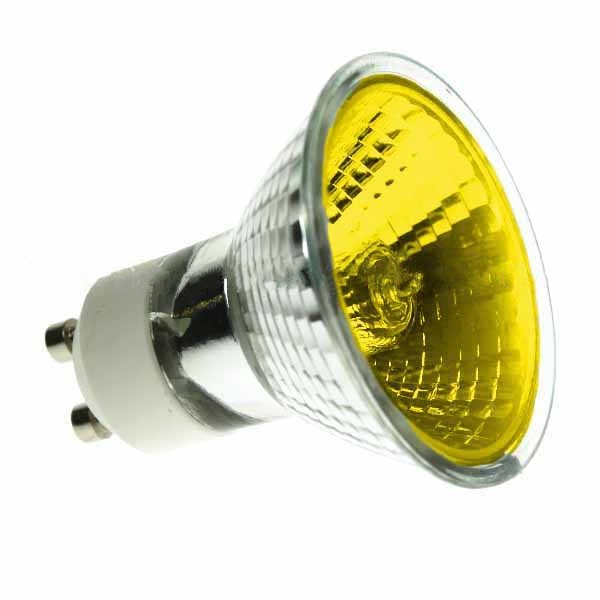 Halogen Spotlight 240V 50W PAR16 GU10 Yellow