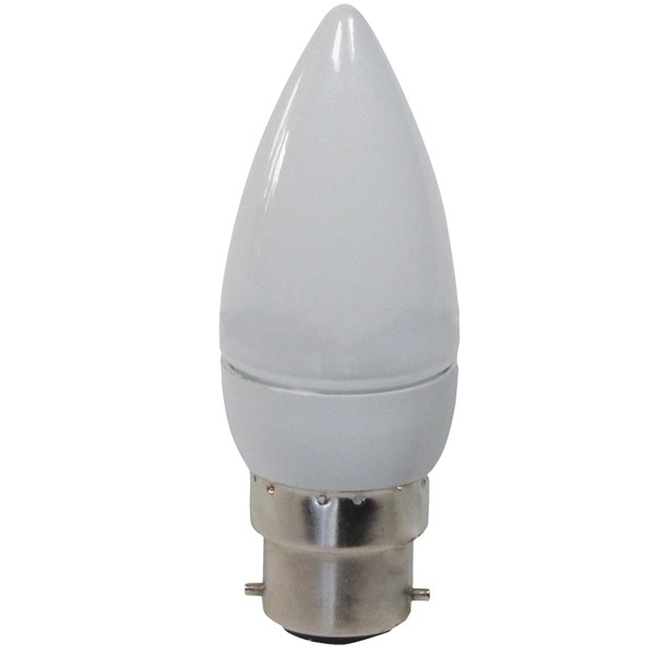 GE LED CANDLE B35 DIMMABLE 4.5W 2700K B22D FR