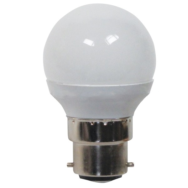 GE LED GOLF BALL 4.5W B22D FROSTED DIMMABLE