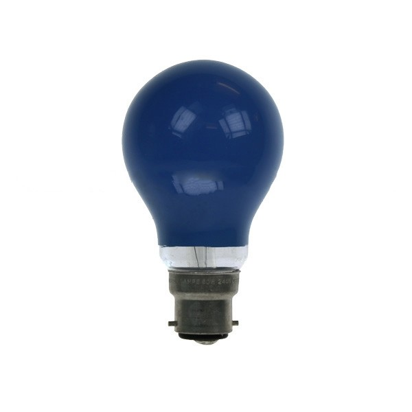GLS Light Bulb 240V 15W B22D Blue