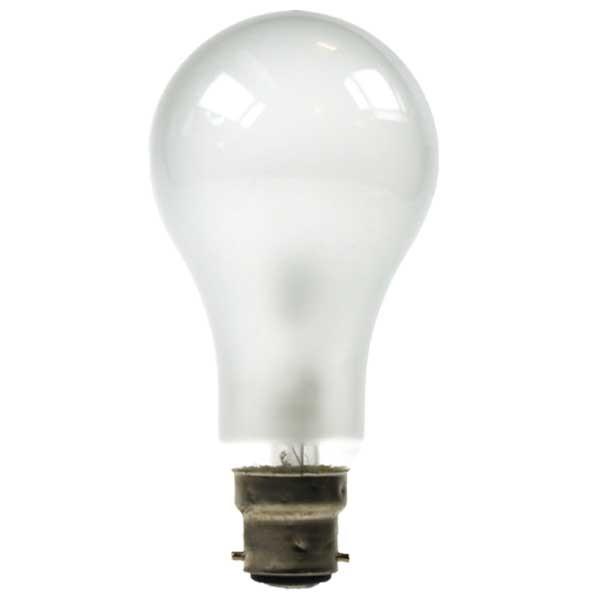 GLS Light Bulb 240V 200W B22D Pearl