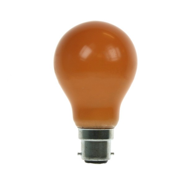 GLS Light Bulb 240V 25W B22D Amber