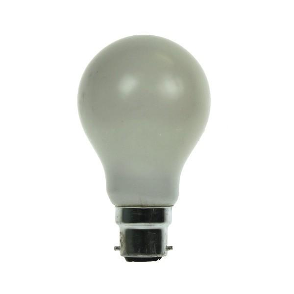 GLS Light Bulb 240V 25W B22D White
