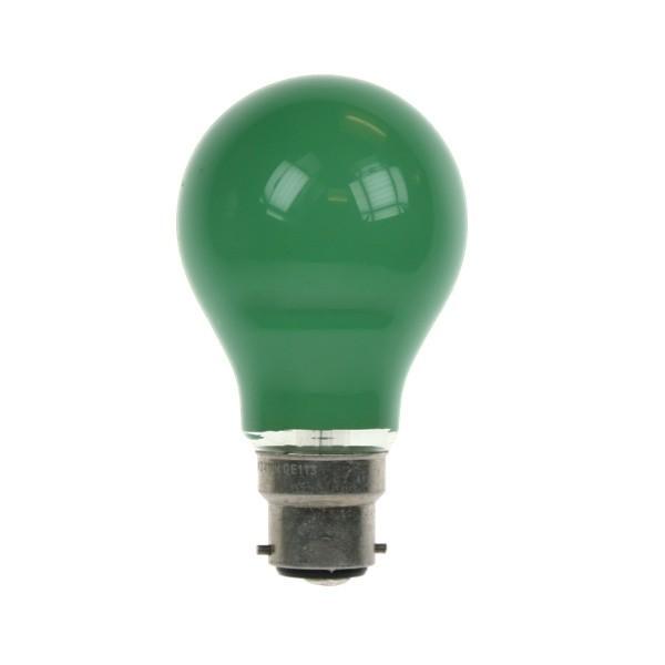 GLS Light Bulb 240V 60W B22D Green