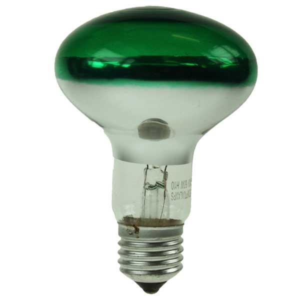 Reflector Spot R80 240V 60W E27 Green