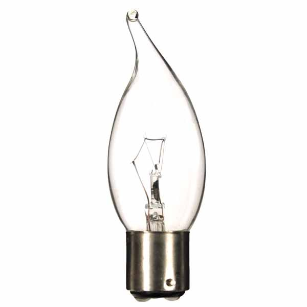 Bent Tip Candle 240V 40W B22D Clear