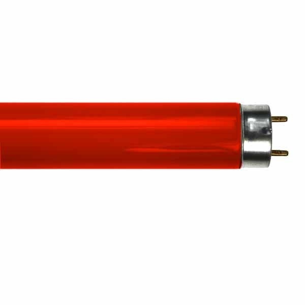 RED FLUORESCENT TUBE LT18W/015 2FT T8 18W
