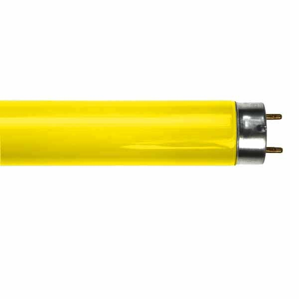 YELLOW  FLUORESCENT TUBE LT18W/016 2FT T8 18W