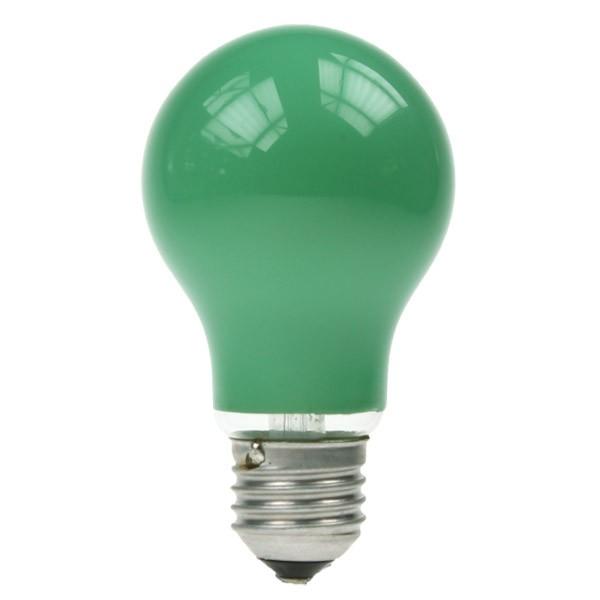 GLS Light Bulb 240V 25W E27 Green