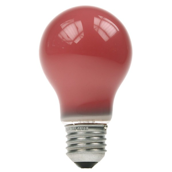GLS Light Bulb 240V 15W E27 Red