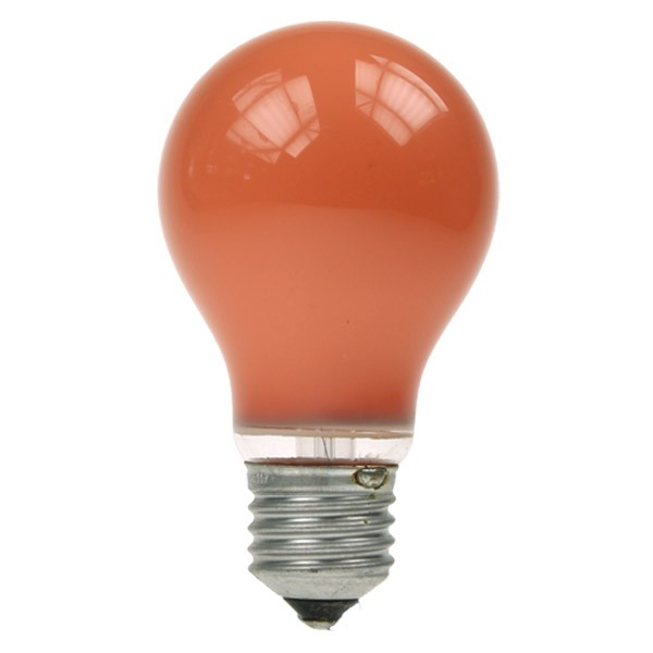Gls Light Bulb 240v 60w E27 Amber Household Light Bulbs