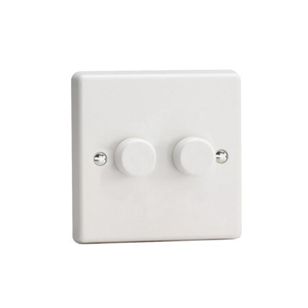 Varilight LED Dimmer V-PRO 2 Gang 0-100w