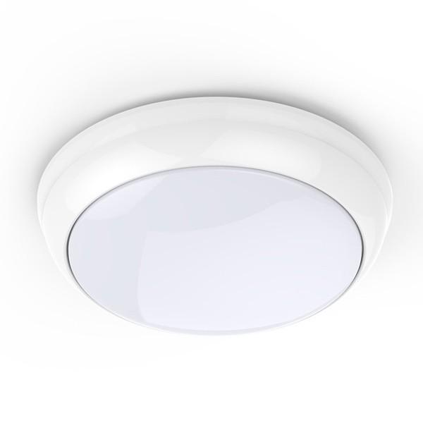 LED Bulkhead Round 15w IP65 White PIR Sensor