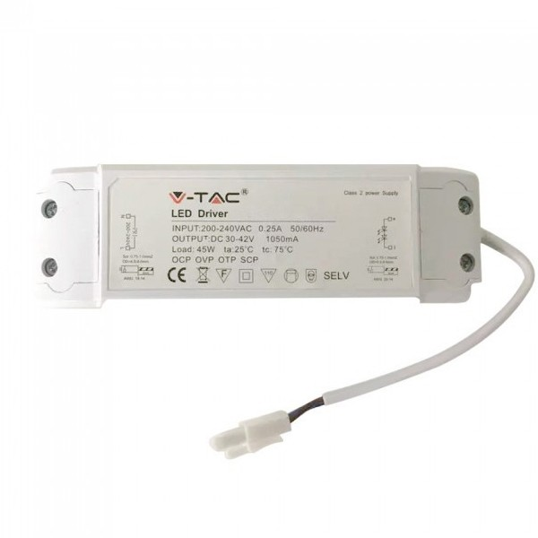 V-TAC LED Dimmable Driver 45W 600X600MM Panel