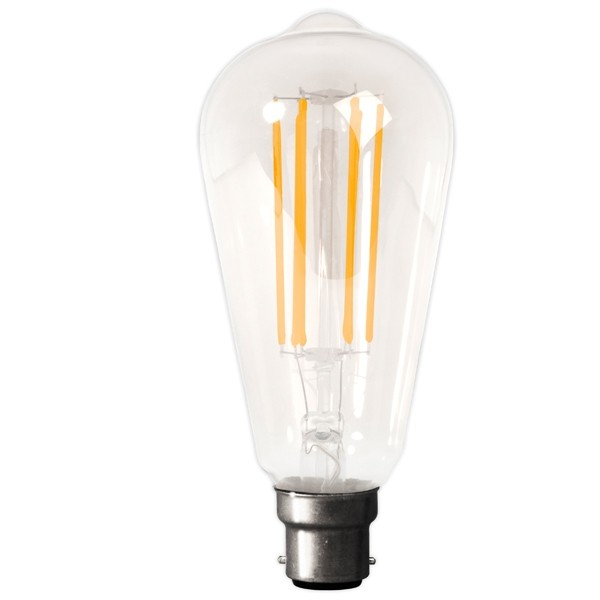 Calex LED Edison Bulb 4w B22d Clear Dimmable