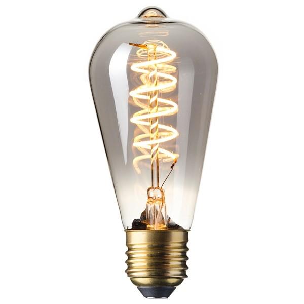LED Edison Bulb 4w E27 Smoked Spiral Filament