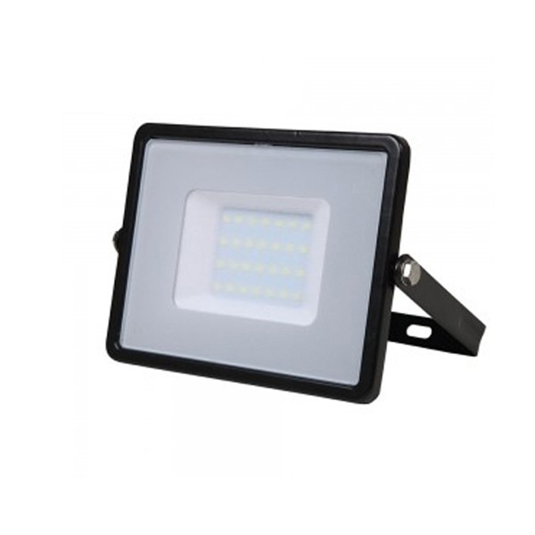 30W SLIMLINE LED FLOODLIGHT 6500K BLACK