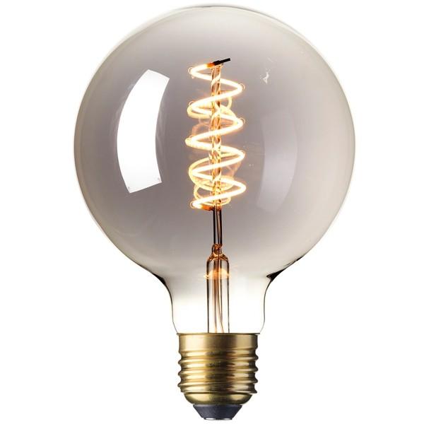 Calex LED Edison Globe 120mm 4w E27 Titanium
