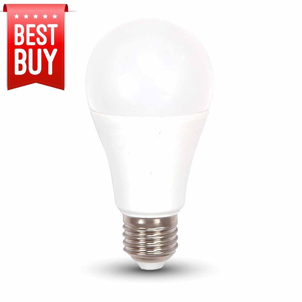 Vtac Led Lightbulb 240v 12w E27 2700k Warm White Opal