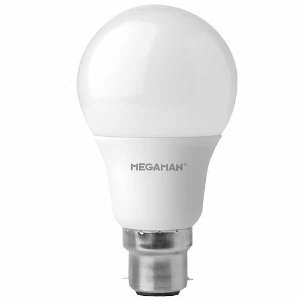 Megaman LED Lightbulb 5.5w B22D Pearl 2800K