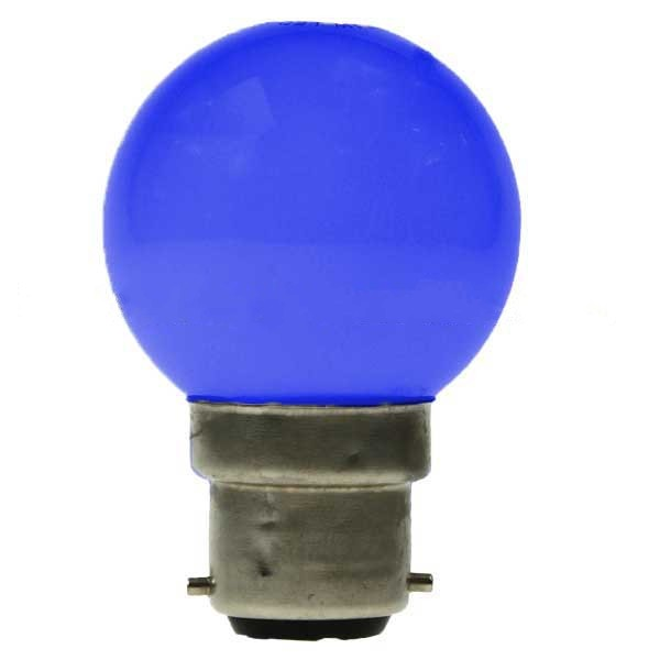 LED GOLF BALL BULB 240V 1W BC B22D BLUE