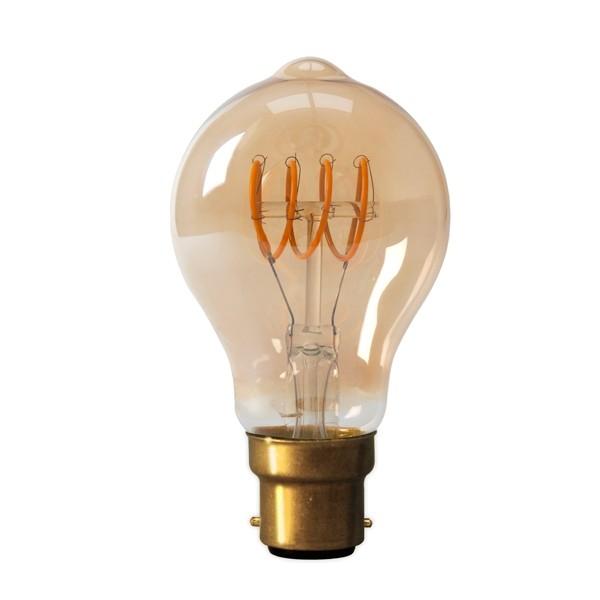 LED Edison Lightbulb 4w B22D Gold Spiral