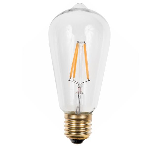 LED SQUIRREL CAGE EDISON LIGHTBULB 240V 3W ES