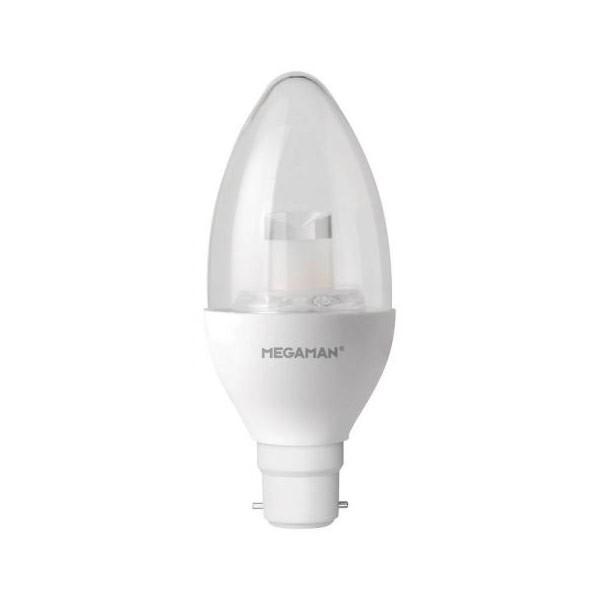 MEGAMAN 143806 6W Candle Dim to Warm B22