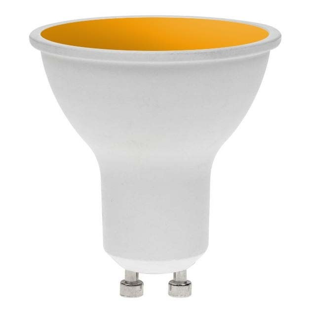 LED GU10 AMBER 7W 240V DIMMABLE