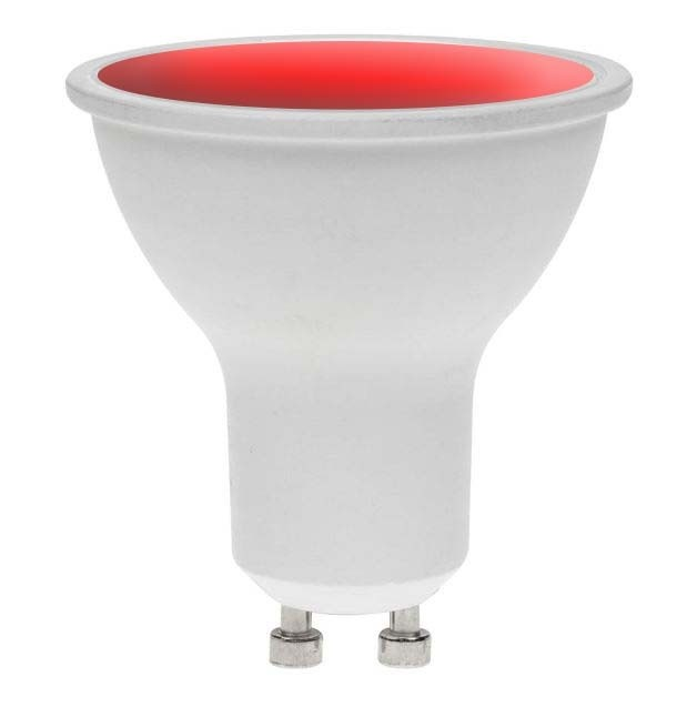 LED GU10 RED 7W 240V DIMMABLE