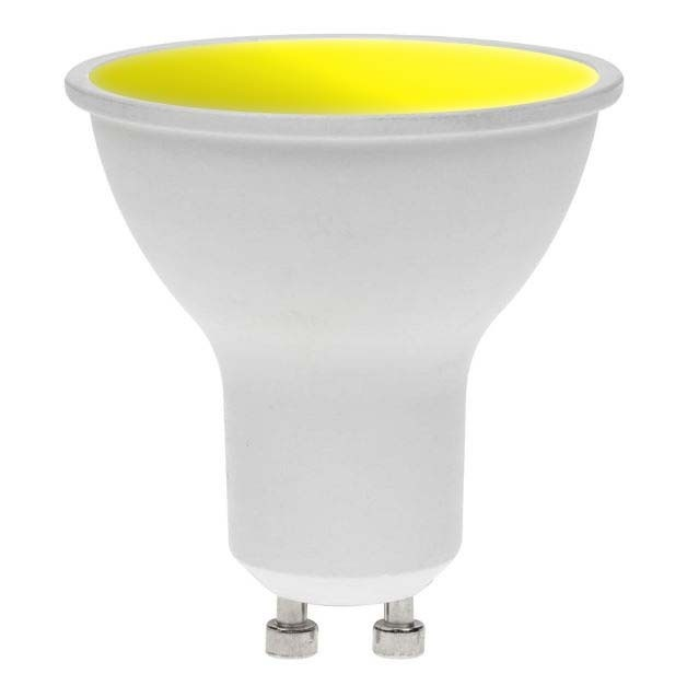 LED GU10 YELLOW 7W 240V DIMMABLE