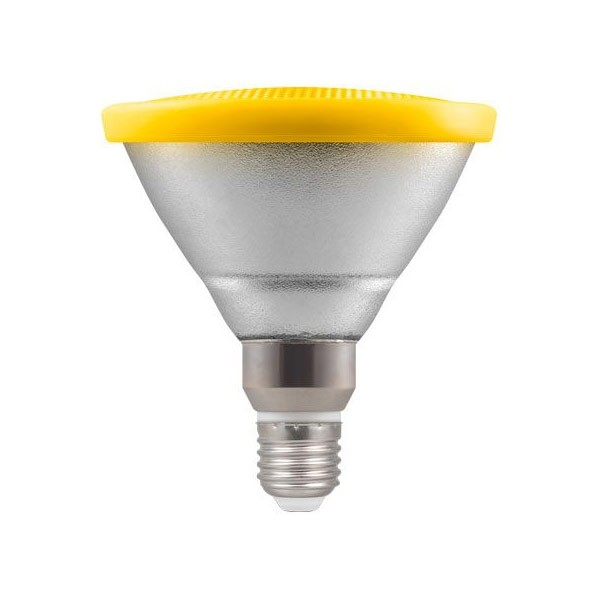 Yellow PAR38 LED Spotlight Bulb E27 IP65
