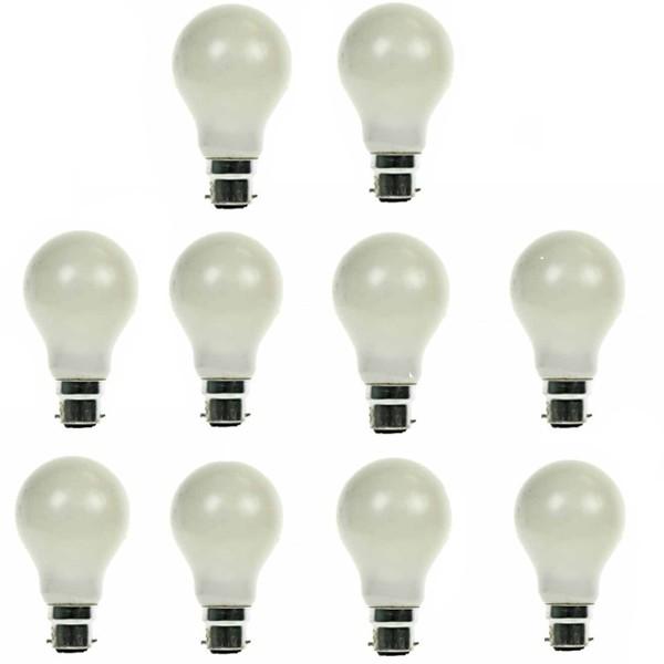 GLS Light Bulb 240V 60W B22D Pearl 10 PACK