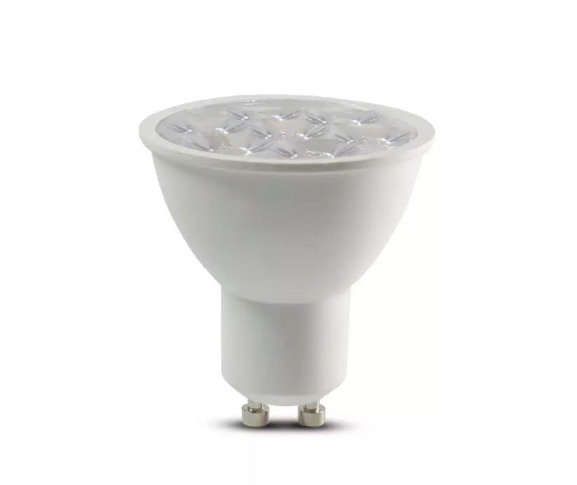LED GU10 6W RIPPLE PLASTIC SPOTLIGHT 6400K