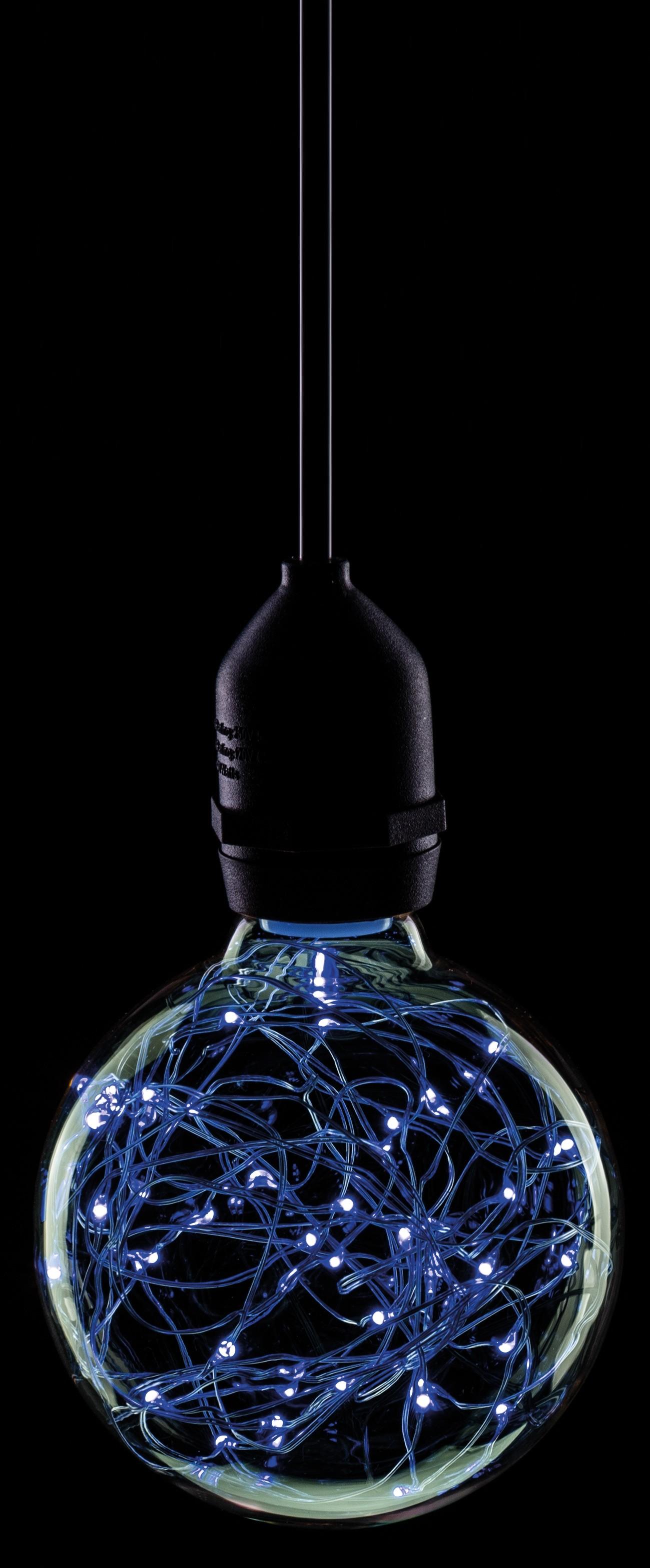 LED 95MM STAR EFFECT GLOBE 1.7W BLUE BC