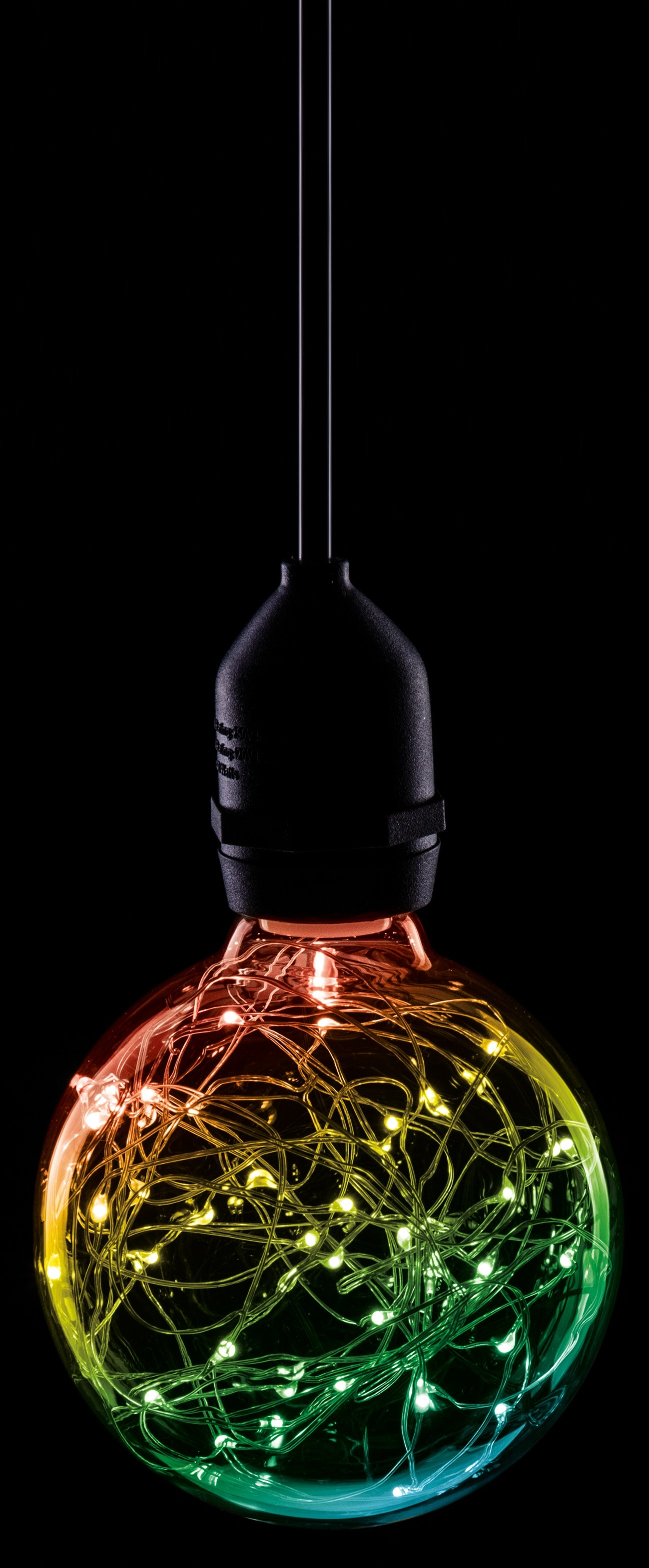 LED 95MM STAR EFFECT GLOBE 1.7W RGB BC