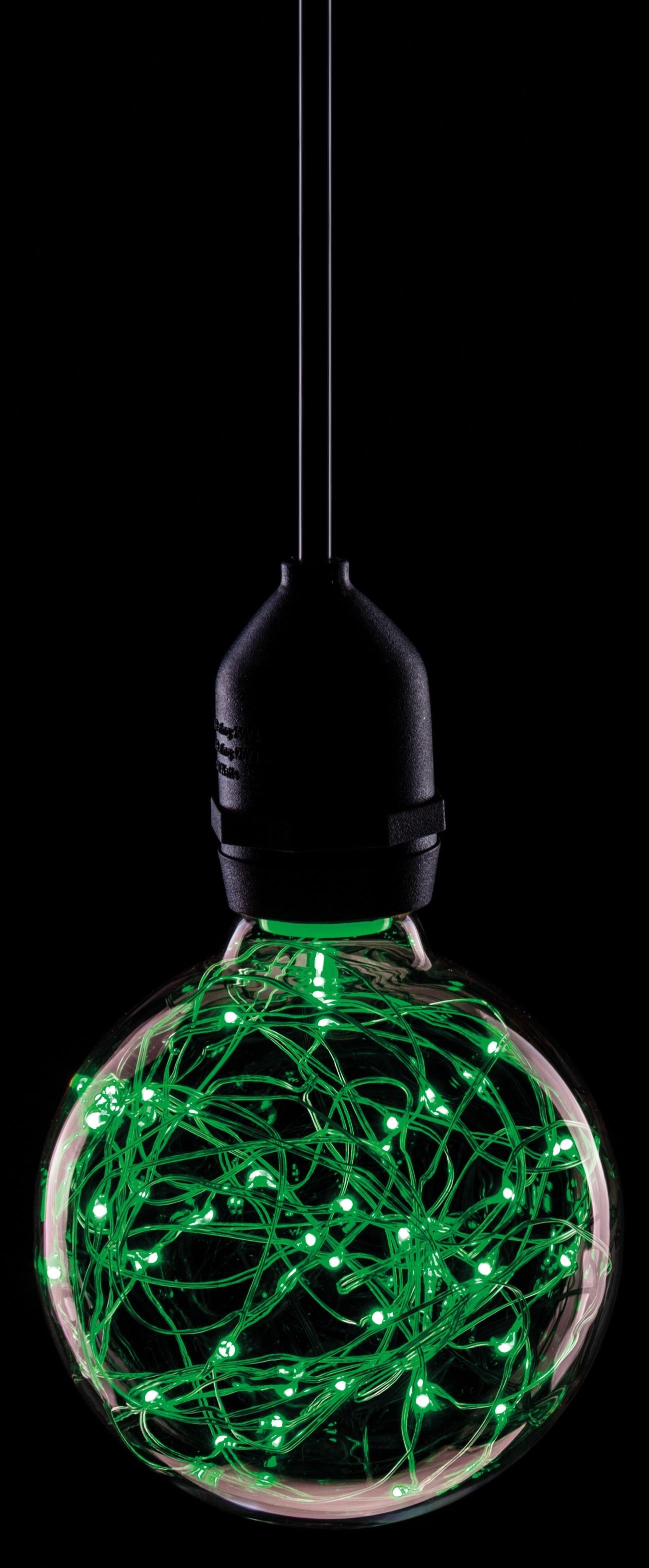 LED 95MM STAR EFFECT GLOBE 1.7W GREEN ES