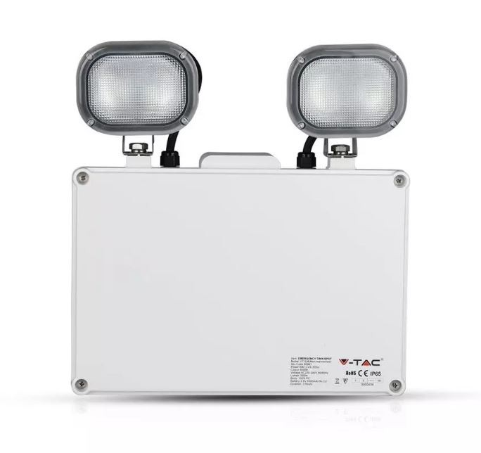 LED EMERGENCY TWIN EXIT LIGHT 6W VTAC