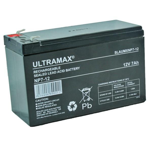 Ultra Max Np7 12 Lead Acid Battery 12v 7ah Lamps On Line