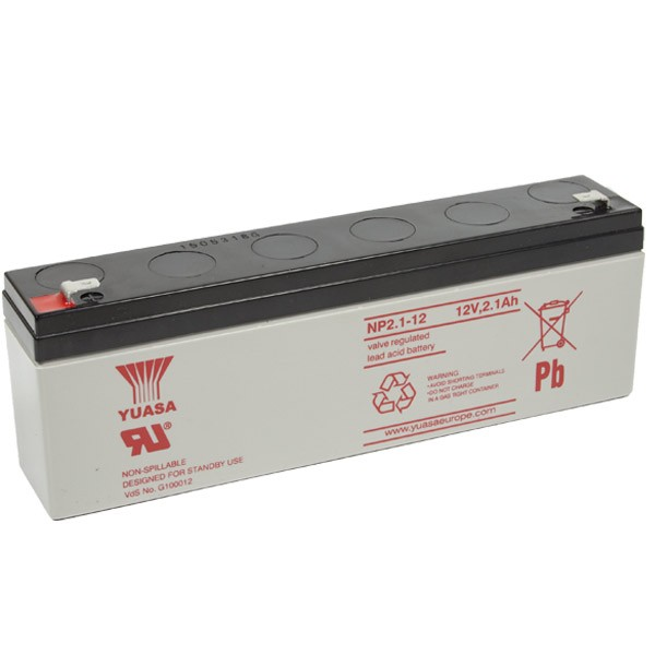 Yuasa NP2.1-12 VRLA Battery 12V 2.1Ah